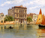 Palazzo Camerlenghi and the Ca Vendramin Calergi in Venice by  Antonietta Brandeis (Painting ID: CI-0089-KA)