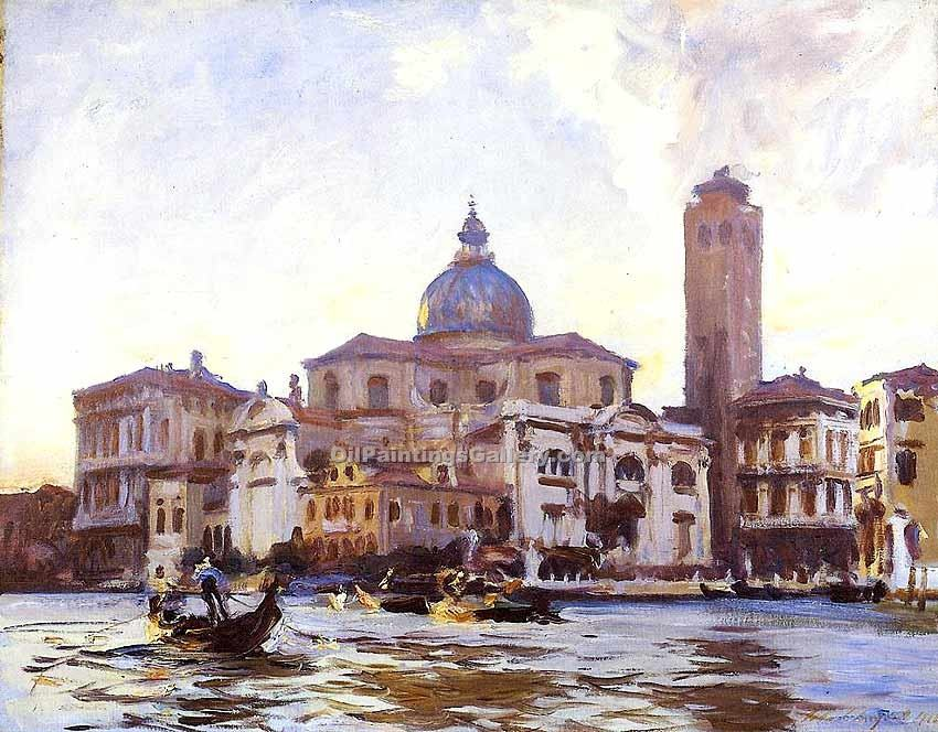 """Palazzo Labia and San Geremia Venice"" by  John Singer Sargent"