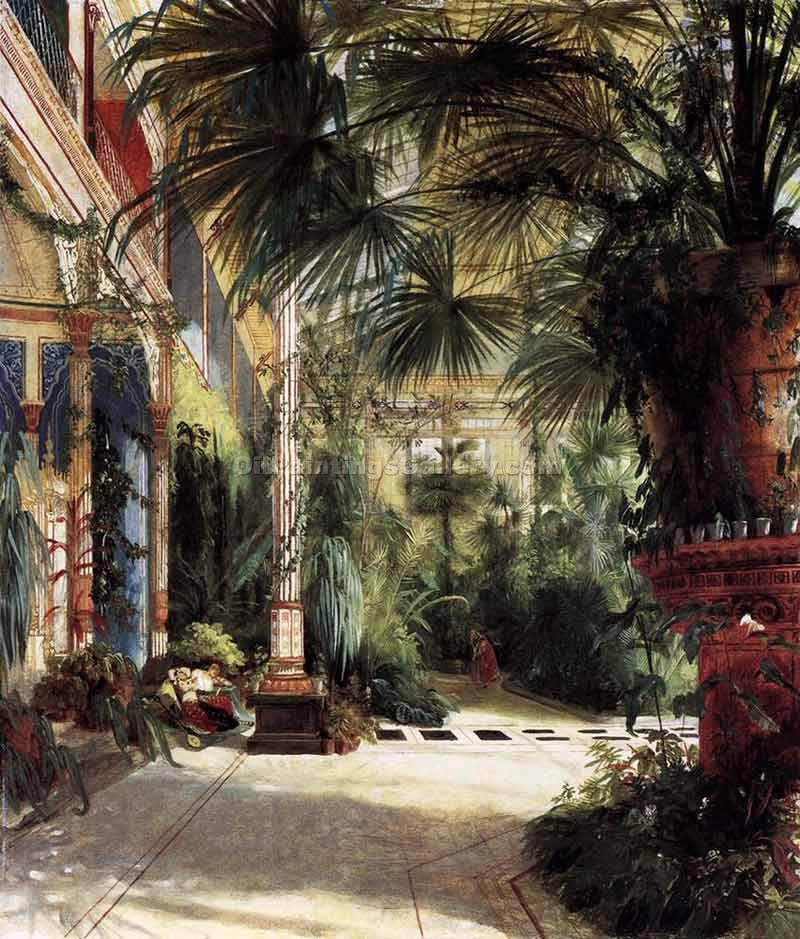 """Palm Court"" by  Karl Blechen"