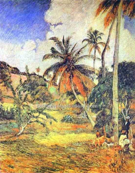 """Palm Trees on Martinique"" by  Paul Gauguin"
