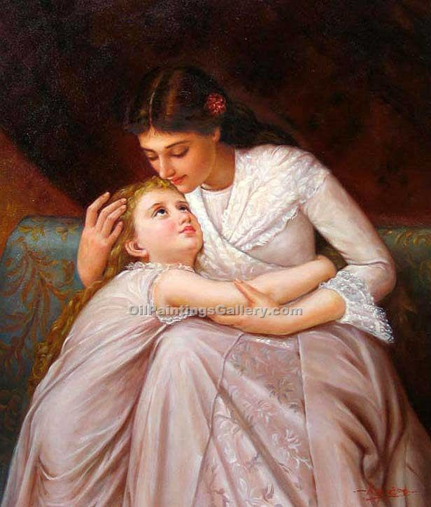 Pardon Mama by EmileMunier | Best Online Art Gallery - Oil Paintings Gallery