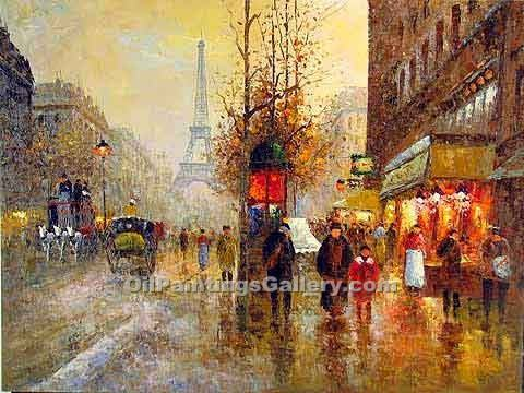 Buy Paintings of Famous Artists Oil Painting Online - Post Impressionism Paintings - Paris Eiffel Tower