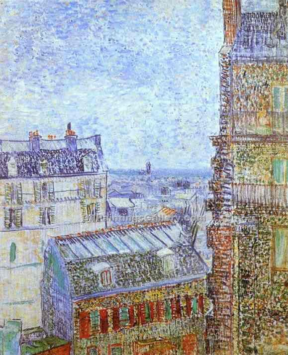 """Paris Seen from Vincent"" by  Vincent Van Gogh"
