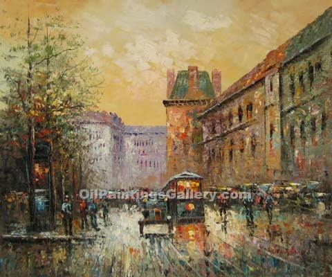 Buy Paintings of Famous Artists Oil Painting Online - Post Impressionism Paintings - Paris Street Scene 17