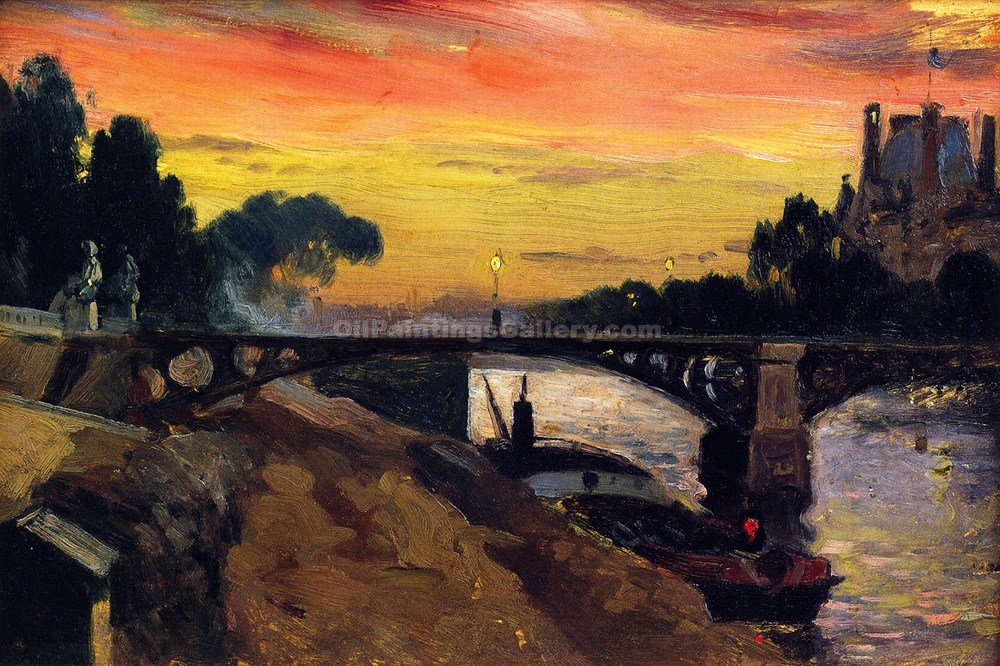 """Paris, View of the Seine, Night"" by  Mathias J. Alten"