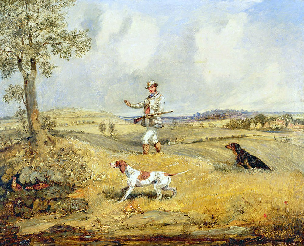 """Partridge Shooting"" by  Henry Thomas Alchen"