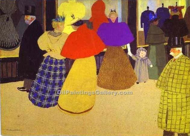 """Passers By"" by  Felix Vallotton"