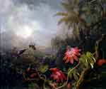 Passion Flowers with Three Hummingbirds by  Martin Johnson Heade (Painting ID: AN-0831-KA)
