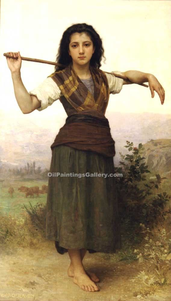 """Pastorale"" by  Adolphe Bouguereau"