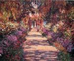 Pathway in Monets Garden at Giverny by  Claude Monet (Painting ID: MO-1152-KA)