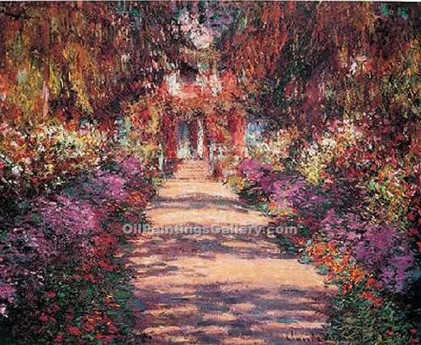 Pathway in Monets Garden at Giverny by Claude Monet (Painting ID ...