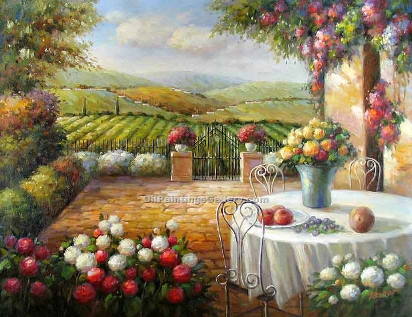"""Patio in Tuscany"""