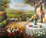 Patio in Tuscany  (Painting ID: LA-5436-KA)
