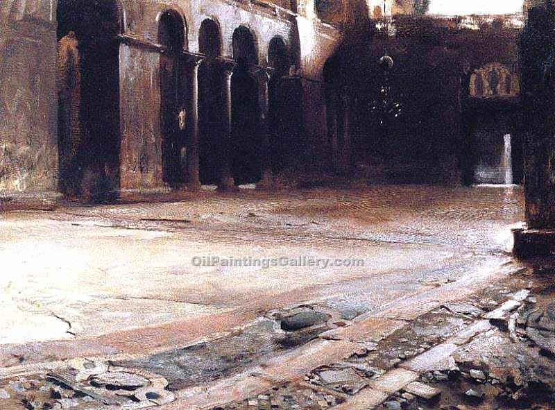 """Pavement of St. Mark s"" by  John Singer Sargent"