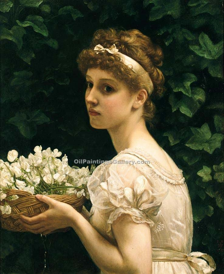"""Pea Blossoms"" by  Sir Edward John Poynter"