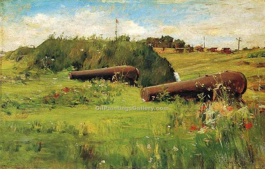 Peace Fort Hamilton by William Merritt Chase | Where To Buy Art - Oil Paintings Gallery