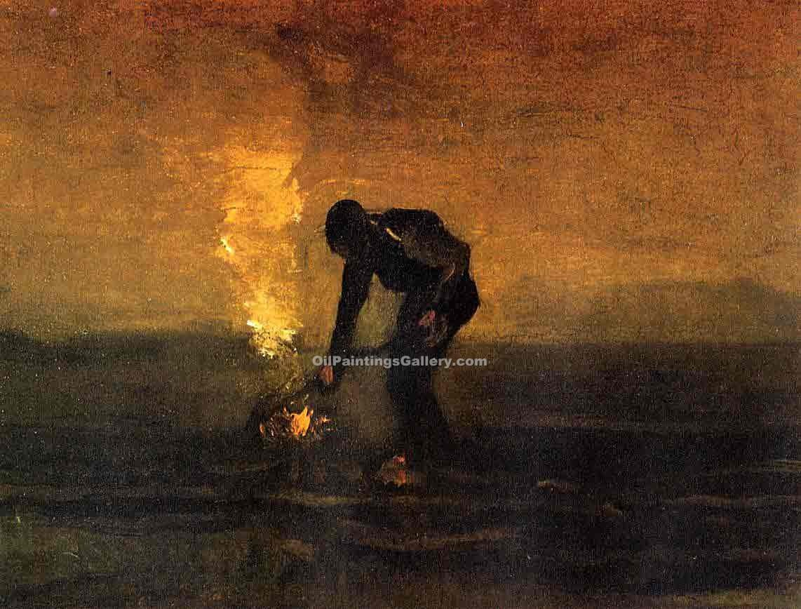 """Peasant Burning Weeds"" by  Vincent Van Gogh"