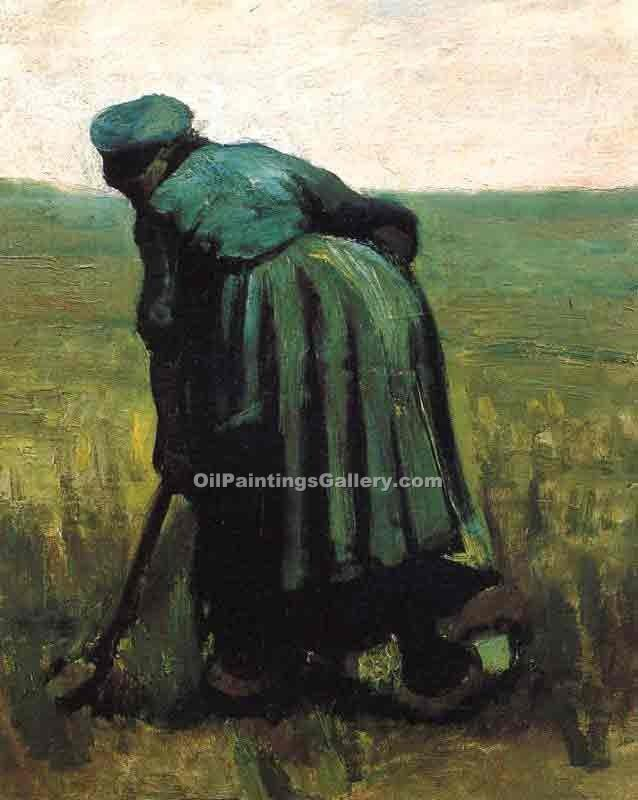 """Peasant Woman Digging"" by  Vincent Van Gogh"