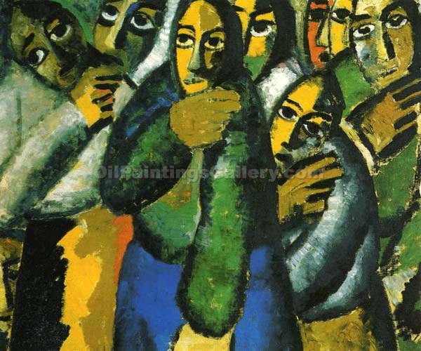 Peasant Woman in Church by Kasimir Malevich | Modern Artists Paintings - Oil Paintings Gallery