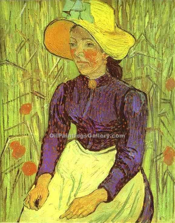 """Peasant Woman with Straw Hat"" by  Vincent Van Gogh"