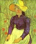 Peasant Woman with Straw Hat by  Vincent Van Gogh (Painting ID: VG-0238-KA)