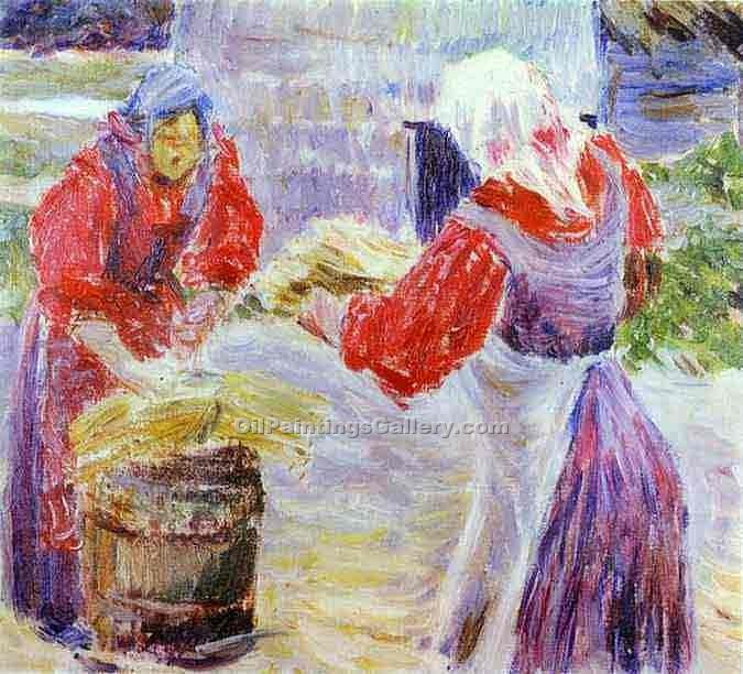 Peasant Women by Musatov Victor Borisov | Oil Paintings For Sale - Oil Paintings Gallery