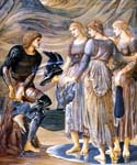 Perseus and the Sea Nymphs by  Edward Burne Jones (Painting ID: CL-7020-KA)