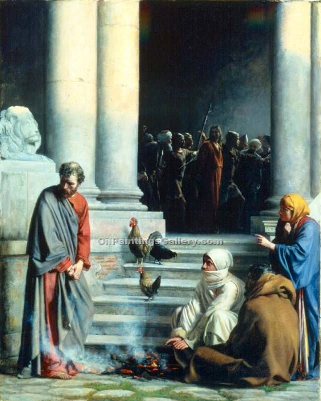 """Peter s Betrayal"" by  Carl Heinrich Bloch"