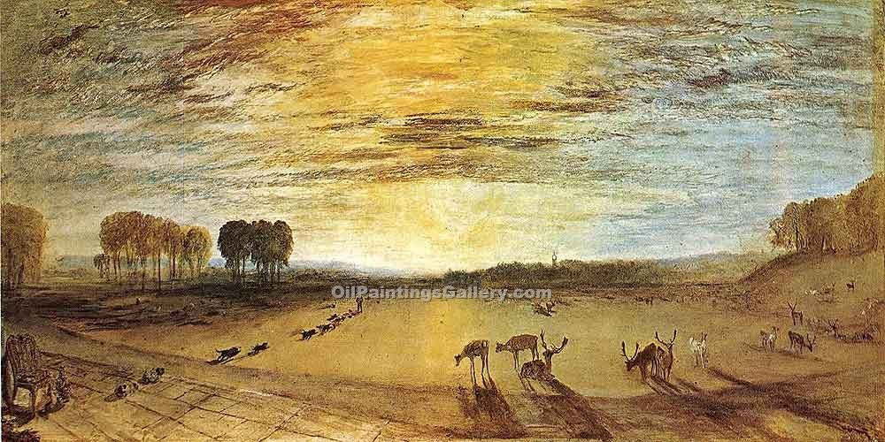 """Petworth Park"" by  William Turner"