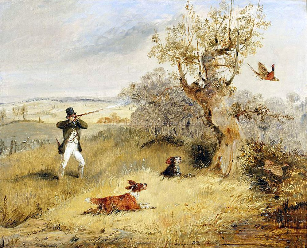 """Pheasant Shooting"" by  Henry Thomas Alchen"