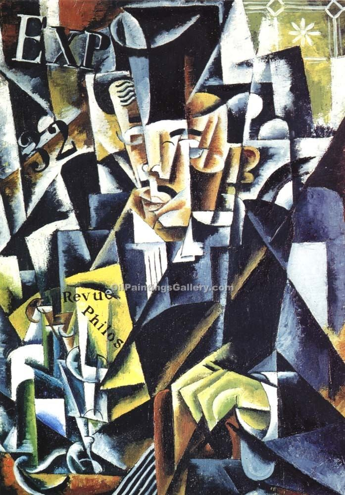 Philosopher by Lyubov Popova | Contemporary Abstract Painting - Oil Paintings Gallery