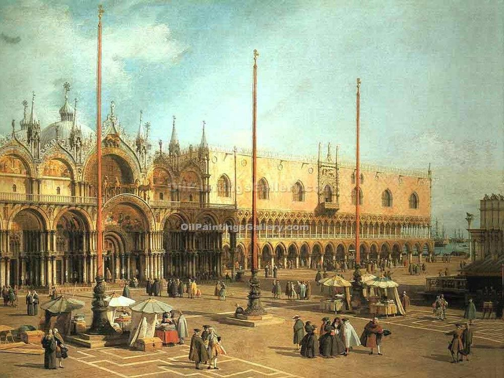 """Piazza San Marco Looking Southeast"" by  Antonio Canaletto"
