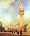 Piazza San Marco, Venice by  Richard Parkes Bonington (Painting ID: CI-0195-KA)