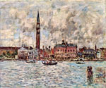 Piazzetta San Marco in Venedig by  Eugene Louis Boudin (Painting ID: CI-0286-KA)