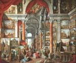 Picture Gallery with Views of Modern Rome by  Giovanni Paolo Pannini (Painting ID: CM-0859-KA)