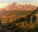 Pikes Peak by  Albert Bierstadt (Painting ID: LA-3389-KA)