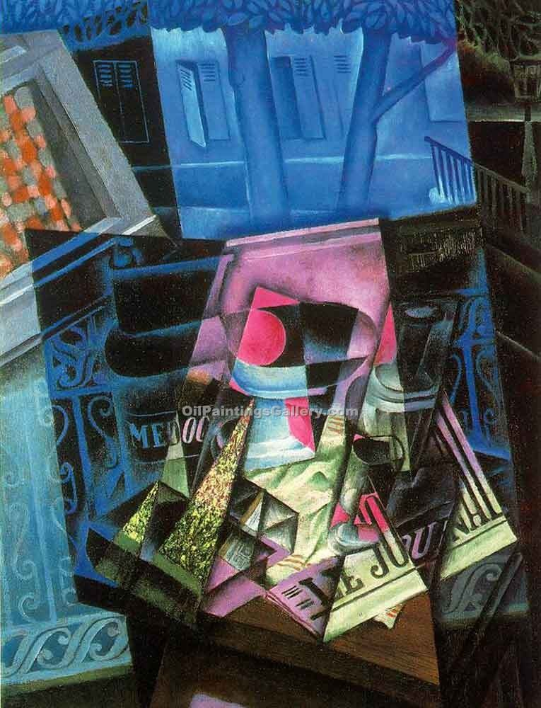 """Place Ravignan"" by  Juan Gris"