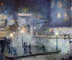 Place du Rome at Night by Theodore Earl Butler (Painting ID: CI-0037-KA)