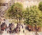 Place du Theatre Francais by  Camille Pissarro (Painting ID: CI-0834-KA)