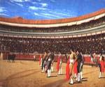 Plaza de Toros The Entry of the Bull by  Jean Leon Gerome (Painting ID: AN-1016-KA)