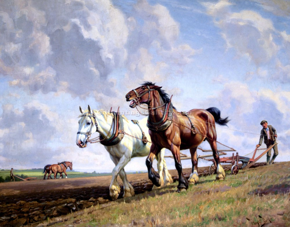 """Plowing the Field"" by  Wright Barker"
