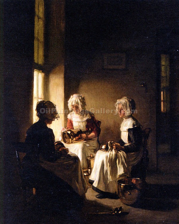 """Polishing The Copper"" by  Claude Joseph Bail"