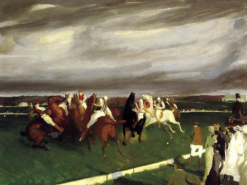 """Polo at Lakewood"" by  George Bellows"