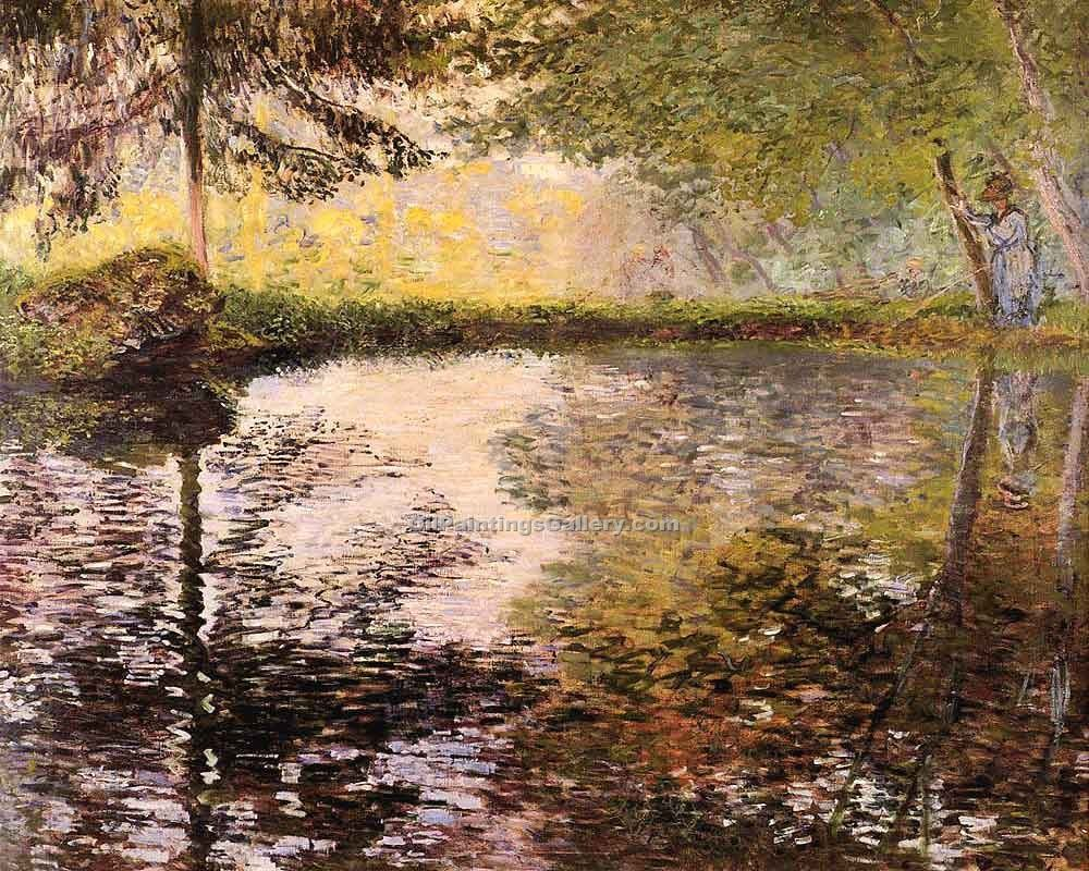 """Pond at Montgeron"" by  Claude Monet"