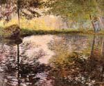 Pond at Montgeron by  Claude Monet (Painting ID: MO-1033-KA)