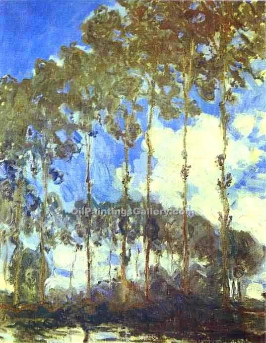 """Poplars on the Bank of the River Epte"" by  Claude Monet"