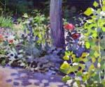 Poppies in the Garden by  Victor Borisov Musatov (Painting ID: LA-1011-KA)