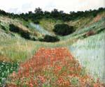 Poppy Field In a Hollow Near Giverny by  Claude Monet (Painting ID: MO-1249-KA)