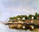 Port St. Jean by  Eugene Louis Boudin (Painting ID: LA-2398-KA)