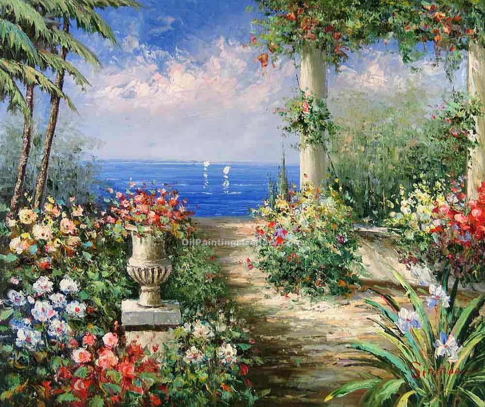 Buy Oil Painting Landscapes Online | Portofino View 15 - Realism & Naturalism styles